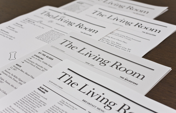 The Living Room Restaurant Branding | Grits + GridsGrits + Grids