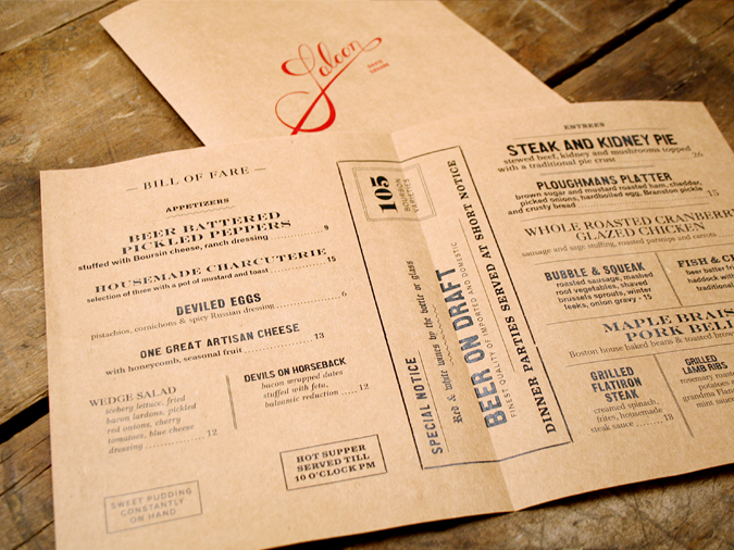 Saloon Branding - Grits + GridsGrits + Grids