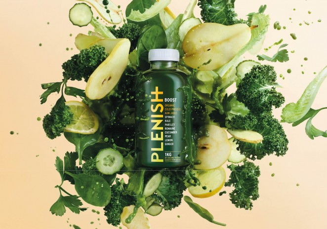 Plenish juice branding by Mother Design in New York